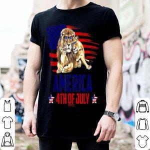 Lion Patriotic American America 4th Of July shirt
