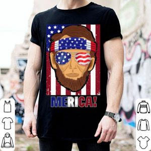 Merica Lincoln USA Flag 4th of July Independence Day shirt