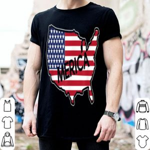 Merica USA Flag Independence Day July 4th shirt