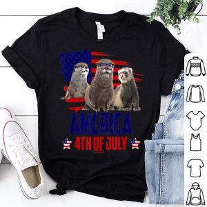 Otter Patriotic American America 4th Of July American Flag shirt