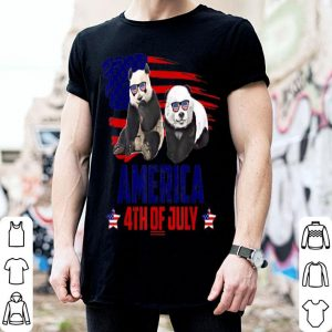 Panda Patriotic American America 4th Of July shirt
