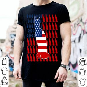 Patriotic American Flag Cat For 4th Of July Day shirt