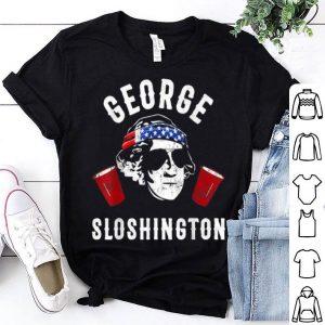 President George Sloshington July 4th Party Drinking shirt