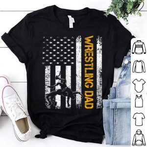 Vintage USA Wrestling Dad American Flag Fathers Day shirt