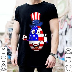 Wo 4th Of July Usa Flag Egg Independent Day shirt