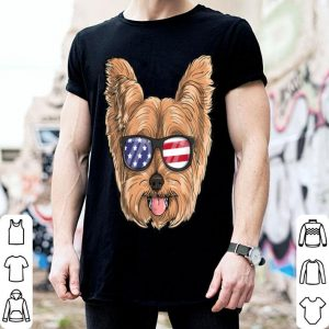Yorkie Dog Patriotic Usa 4th Of July American shirt