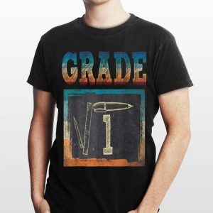 1st Grade Back To School Square Root Of 1 Math shirt