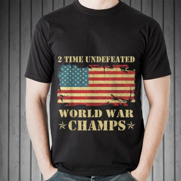 2 Time Undefeated World War Champs Ameican Flag sweater
