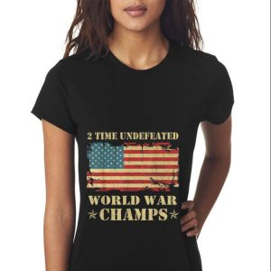 2 Time Undefeated World War Champs Ameican Flag sweater 2