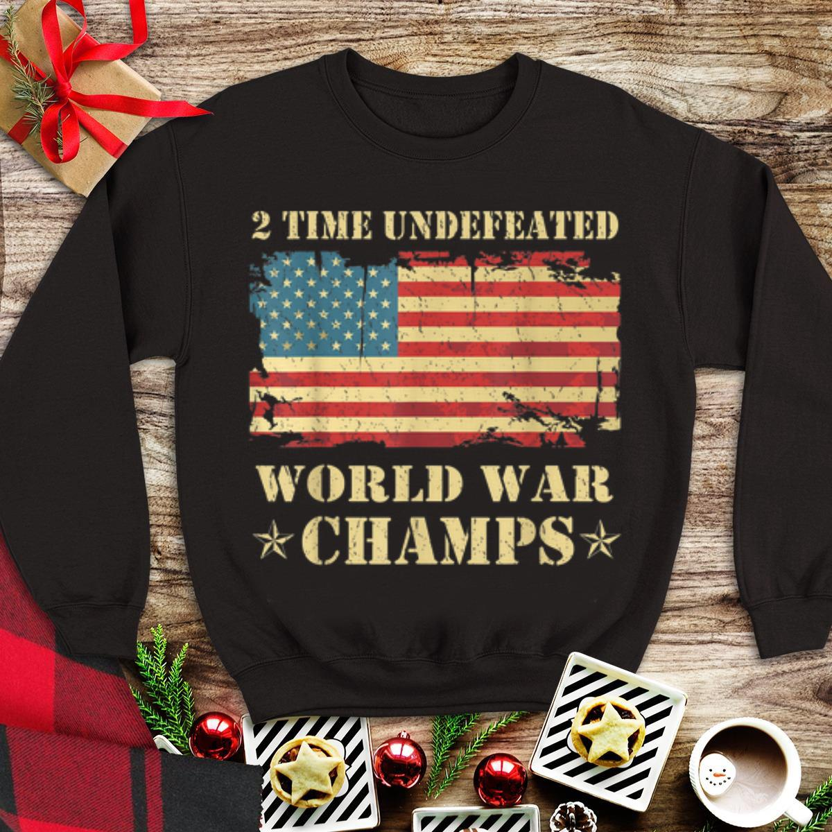 2 Time Undefeated World War Champs Ameican Flag tank top 1 - 2 Time Undefeated World War Champs Ameican Flag tank top