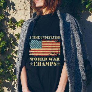 2 Time Undefeated World War Champs Ameican Flag tank top 1