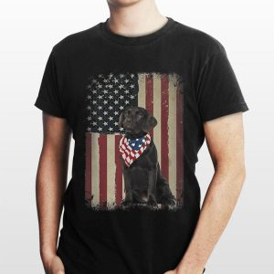 4Th Of July Black Lab American Flag Sunglasses Labrador shirt