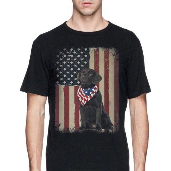 4Th Of July Black Lab American Flag Sunglasses Labrador shirt