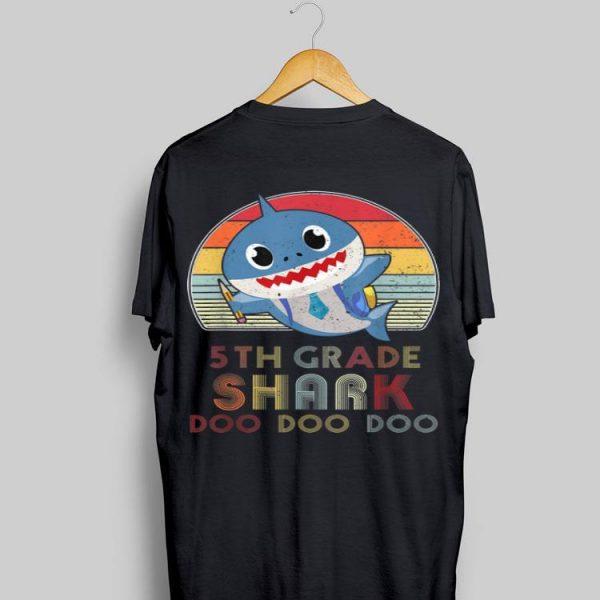5th Grade Shark Doo Doo Back To School shirt