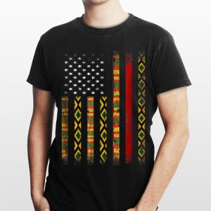 African Kente Cloth Sunglass American Flag Special shirt