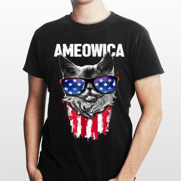 Ameowica 4Th Of July Cat Flag Patriotic shirt