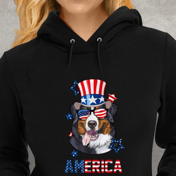 America Bernese Mountain Dog 4th of July Youth tee