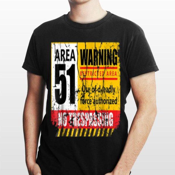 Area 51 No Trespassing UFO shirt
