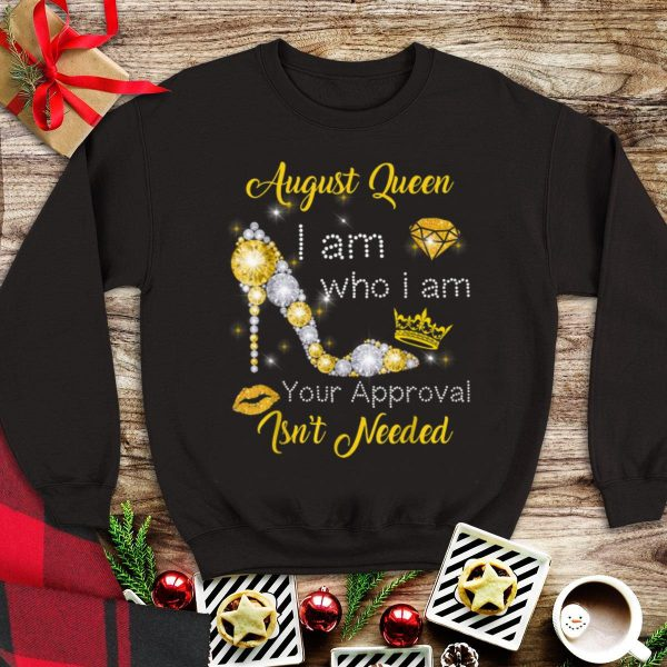 August Girl I Am Who I Am Your Approval Isn't Needed Diamond tank top
