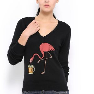 Awesome Flamingo Drinking Beer shirt 2