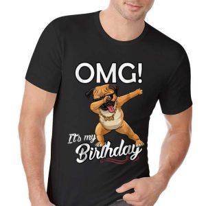 Awesome OMG It's My Birthday Pug Dab Dance shirt