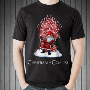Awesome Santa Candy Cane Throne Christmas Is Coming shirt