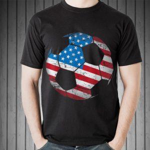 Awesome Soccer Ball American Flag shirt