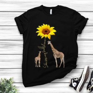 Awesome Sunflower You are my sunshine Giraffe shirt