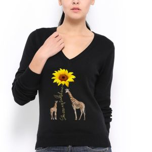 Awesome Sunflower You are my sunshine Giraffe shirt 2