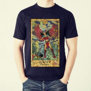 Awesome Tarot Card Valkyrie Mystic Psychic Justice Fortune Teller shirt