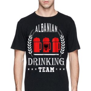 Beer Albanian Drinking Team Casual Albania Flag shirt