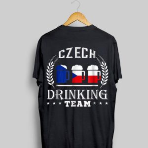 Beer Czech Drinking Team Casual Czech Republic Flag shirt