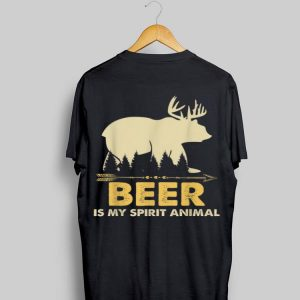 Beer Is My Spirit Animal Drinking Alcohol Lover shirt