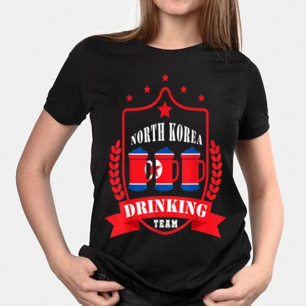 Beer North Korea Drinking Team Casual North Korea Flag shirt
