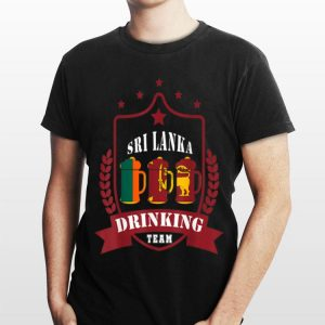 Beer Sri Lanka Drinking Team Casual Sri Lanka Flag shirt