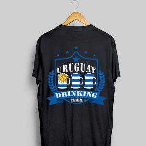 Beer Uruguay Drinking Team Casual Uruguay Flag shirt