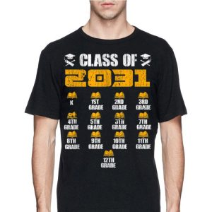 Class of 2031 Grow With Me with space for checkmarks shirt