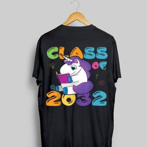 Class of 2032 Unicorn Grow with me First day of shool shirt