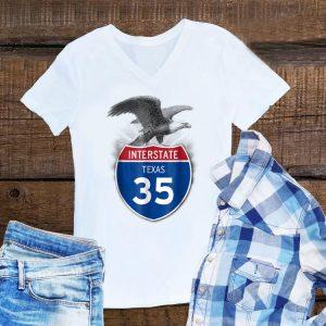 Eagle Texas 35 Highway Interstate Shield hoodie