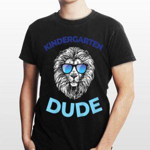 First Day Of School Kindergarten Dude Lion For Boys shirt