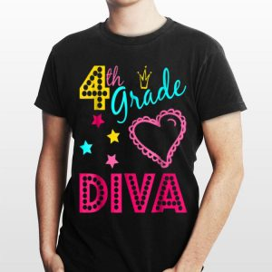 Fourth Grade Diva Back to School Outfit for Girls shirt