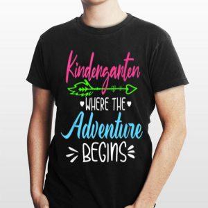 Kindergarten Where The Adventure Begins Cute shirt