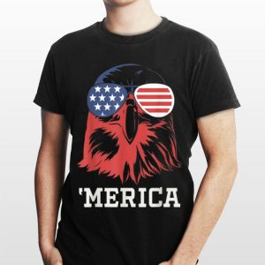 Merica 4Th Of July Bald Eagle Patriotic Usa American Flag shirt