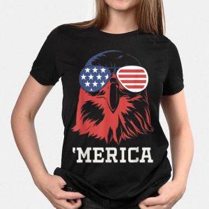 Merica 4Th Of July Bald Eagle Patriotic Usa American Flag shirt