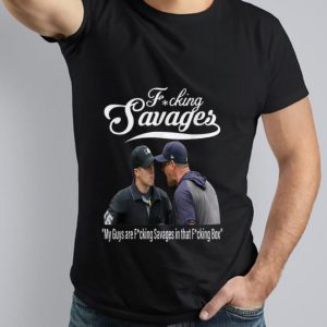Nice Trend Fucking Savages My Guys Are Savages In That Box New York Yankees Aaron Boone shirt