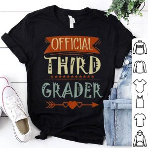 Official 3rd Grader 3rd Grade Back To School shirt