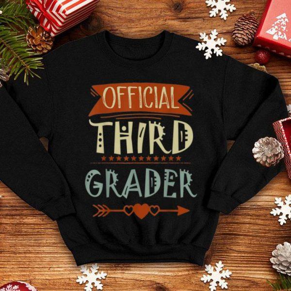 Official 3rd Grader 3rd Grade Back To School shirt