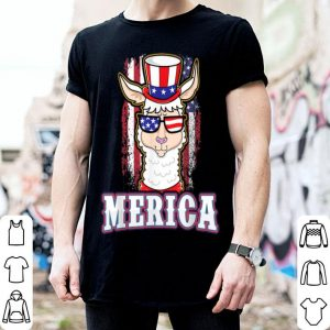 Patriotic Llama American Flag Usa 4Th Of July Tee shirt