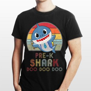 Pre K Shark Doo Doo Back To School For Boys Girls shirt
