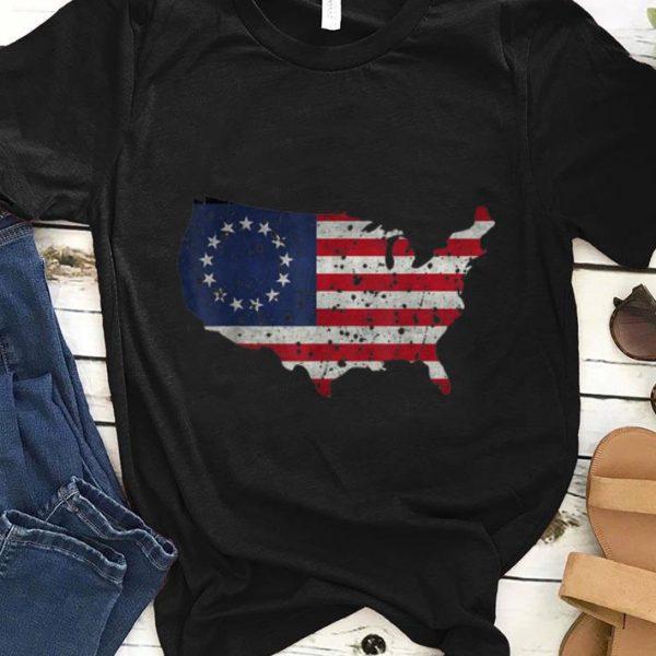 Premium Betsy Ross Flag Apparel USA Shape Revolutionary War shirt